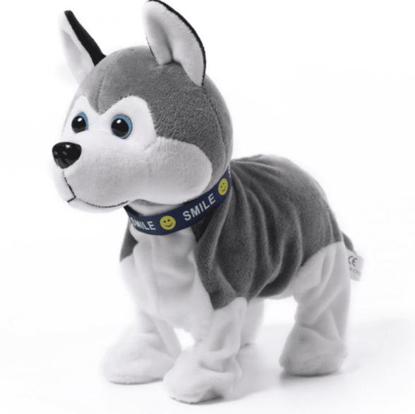 Robot chien husky en peluche