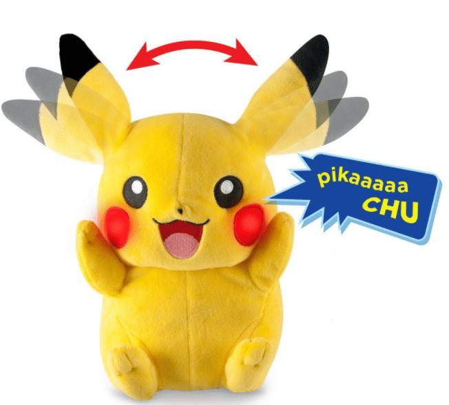 Pikachu en peluche qui crie et bouge